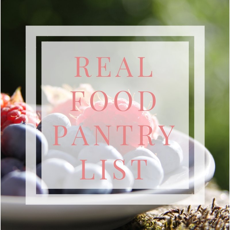 real food pantry list